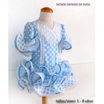 Patron PatronesMujer 9053 Robe Flamenco fillettes