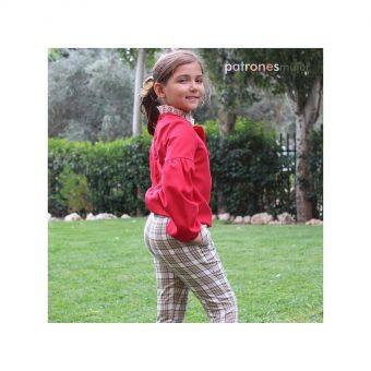 Patron PatronesMujer 9087 Ensemble pantalon fuseau et blouse avec noeud