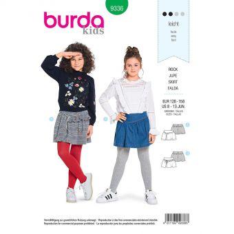 Patron Burda Kids 9336 Jupe