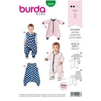 Patron Burda 9298 Combinaison - Gigoteuse bébé avec des jambes - de 6 à 36 mois