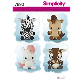 Patron Simplicity 8034 peluches