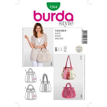 Patron Burda 7264 Sacs