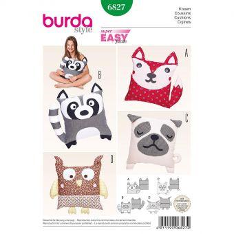 Patron Burda 6827 Coussins animaux
