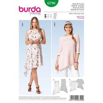 Patron Burda 6790 Robe et tunique