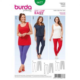 Patron Burda 6677 Legging