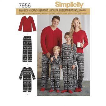 Patron Simplicity 8269 Pyjama adultes et enfants