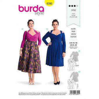 Patron Burda 6390 Robe pour dames