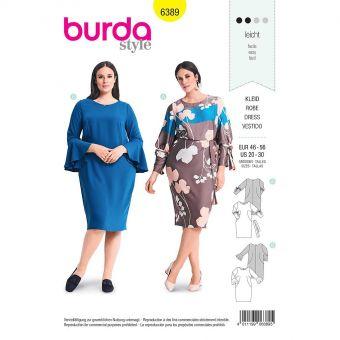 Patron Burda 6389  Robe pour dames