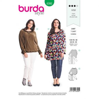Patron Burda 6392 Blouse pour dames