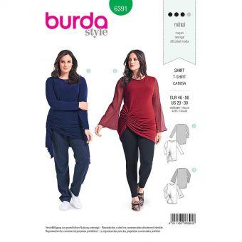 Patron Burda 6391 Tee-Shirt pour dames