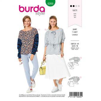 Patron Burda 6269 Sweat shirt pour femmes de 36 à 46