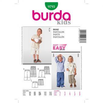 Patron Burda 9793 Kids Pantalon