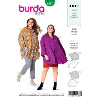 Patron Burda 6257 Blouse en forme de cape pour femmes de 46 à 56