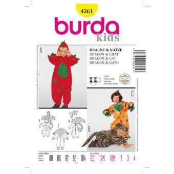Patron Burda 4361 Carnaval Dragon et Chat