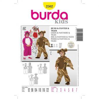 Patron Burda 2502 Carnaval Combinaison Animaux