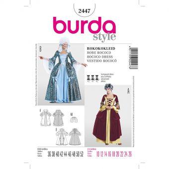 Patron Burda 2447 Historique robe rococo