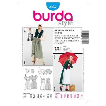 Patron Burda 2457 Carnaval Robe, veste, gilet