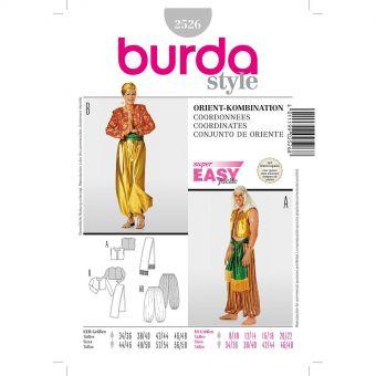 Patron Burda 2526 Carnaval Costumes orientaux