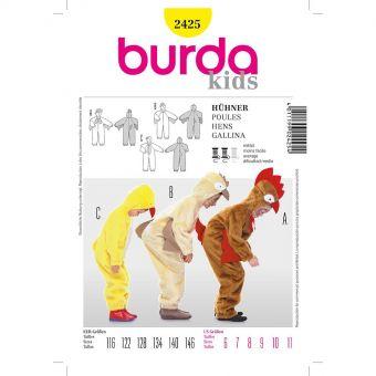 Patron Burda 2425 Carnaval Poule, poussin, coq