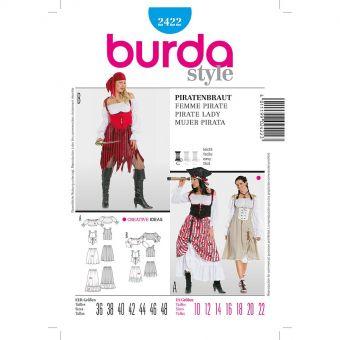 Patron Burda 2422 Carnaval Femme pirate