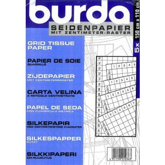 Papier de soie Burda quadrillé - 5 feuilles 150x110cm -
