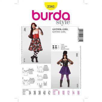 Patron Burda 2385 Carnaval gothic - girl