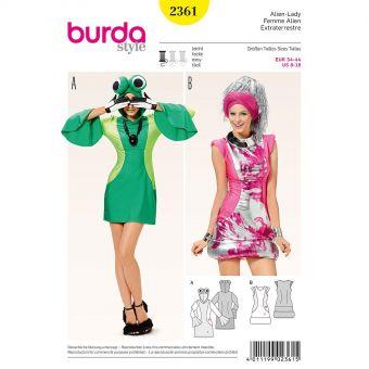 Patron Burda Carnaval 2361 Femme alien