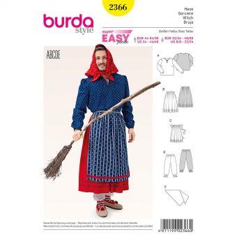 Patron Burda 2366 Carnaval Sorcière