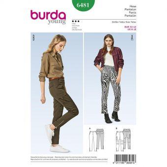 Patron Burda 6481 Pantalon