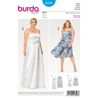 Patron Burda 6548 Robe de soirée