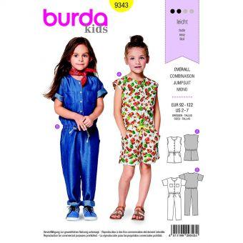 Patron Burda  Kids 9343 Combinaison