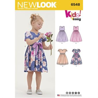Patron New Look 6548 Robe pour fillettes