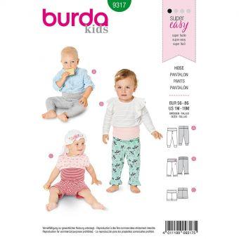 Patron Burda 9317 - Pantalon pour bébés de 1 à 18 mois