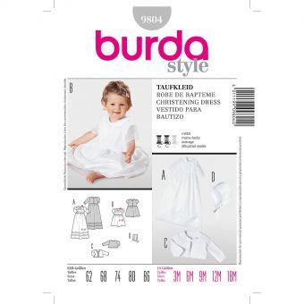 Patron Burda 9804 Kids Robe de baptême
