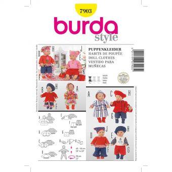 Patron Burda Creative 7903 Robes de poupées