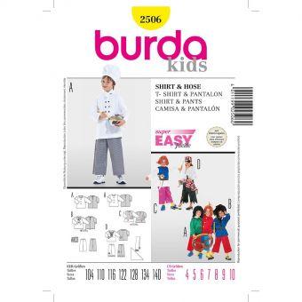 Patron Burda 2506 Carnaval Shirt et pantalon
