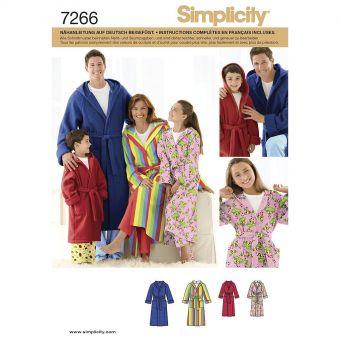 Patron Simplicity 3575 robe de chambre adolescent et adulte