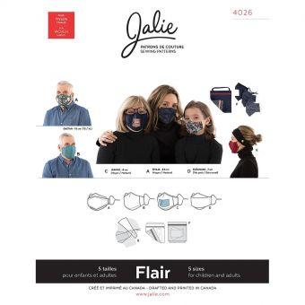 Patron Jalie 4026 FLAIR -  Masque et sa pochette, toutes tailles