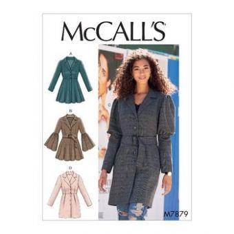 Patron Mc Call's 7879 - Manteau Femme avec variations de manches du 34 au 50