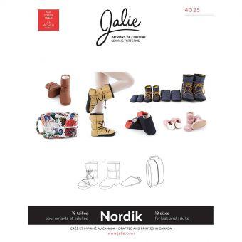 Patron Jalie 4025 NORDIK - Bottillons et Pantoufles matelassées