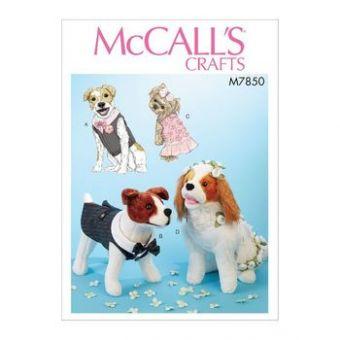 Patron Mc Call's 7850 - Vêtement de mariés pour chiens