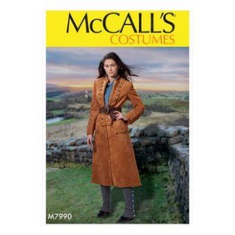 Patron Mc Call's 7990 - déguisement pour jeune femme tailles du 34 au 50