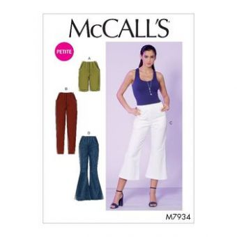 Patron Mc Call's 7934 - Short et Pantalons à pinces  du 34 au 50