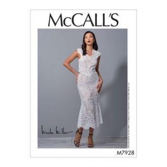 Patron Mc Call's 7928 - Robe de soirée ajustée du 32 au 48