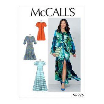 Patron Mc Call's 7925 - Robe boutonnée  du 34 au 50
