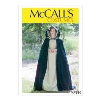 Patron Mc Call's 7886 - Déguisement Cape Femme , toutes tailles