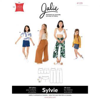 Patron Jalie 4129 SYLVIE- Pantalon jambe large et short en tricot- Femme, Enfant fille
