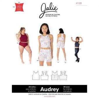 Patron Jalie 4128 AUDREY- Haut Sport court- Femme, Enfant fille