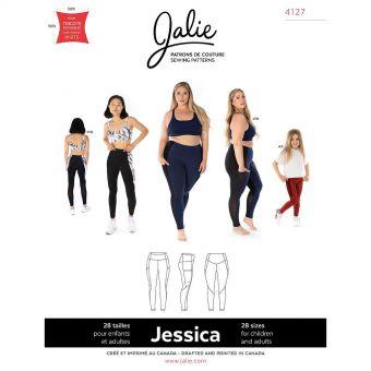 Patron Jalie 4127 JESSICA - Legging Sport avec poche latérale- Femme, Enfant fille