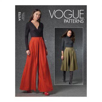 Patron VOGUE 1772 - Pantalon large à plis du 36 au 52